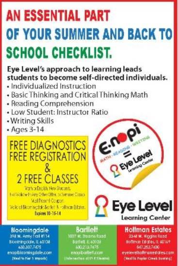 Eye Level Learning Center Of Hoffman Estates Enopi Is Now